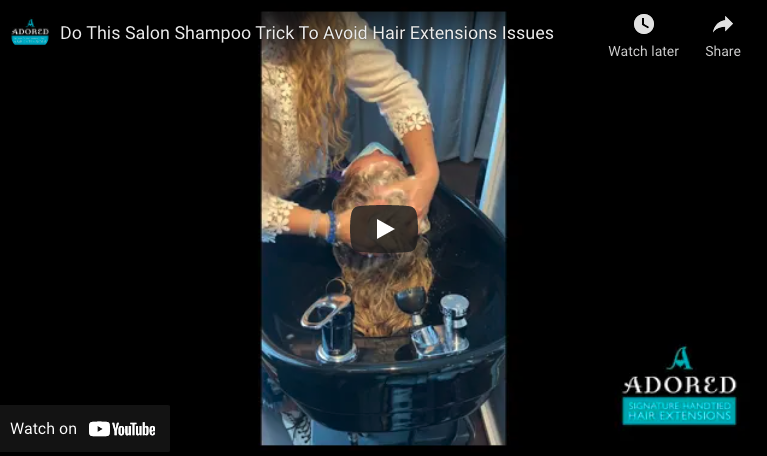 Do This Salon Shampoo Trick To Avoid Hair Extensions Issues