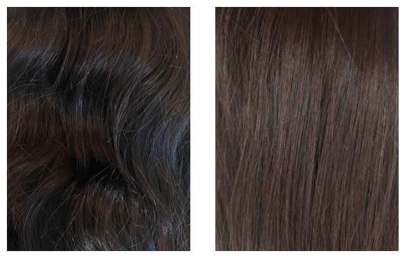 dark hair curly hand-tied hair extensions