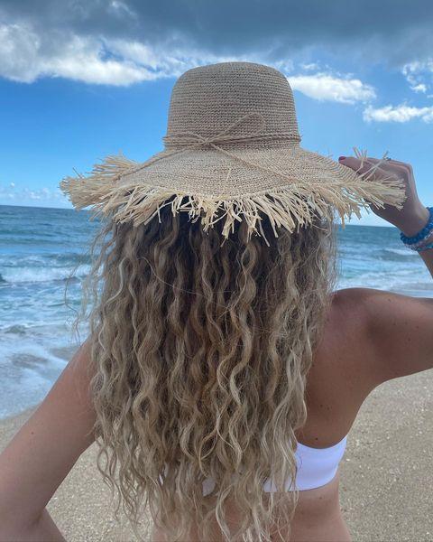 Jen on the beach